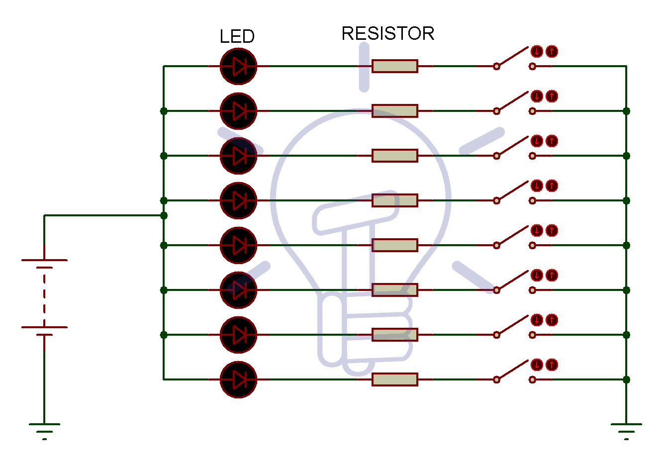 Circuit Diagram of CC Seven segment