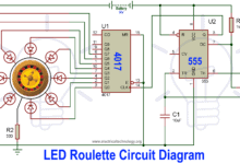 Photo of LED Roulette Circuit Diagram using 555 Timer & 4017 Counter