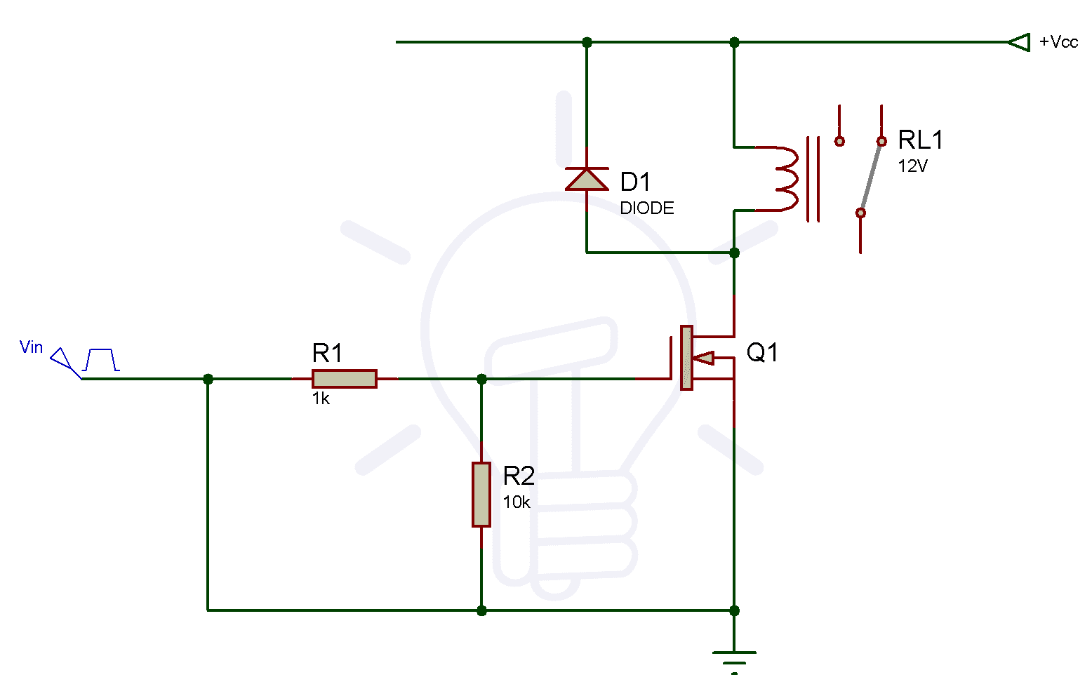 N-Channel Relay Switch Circuit