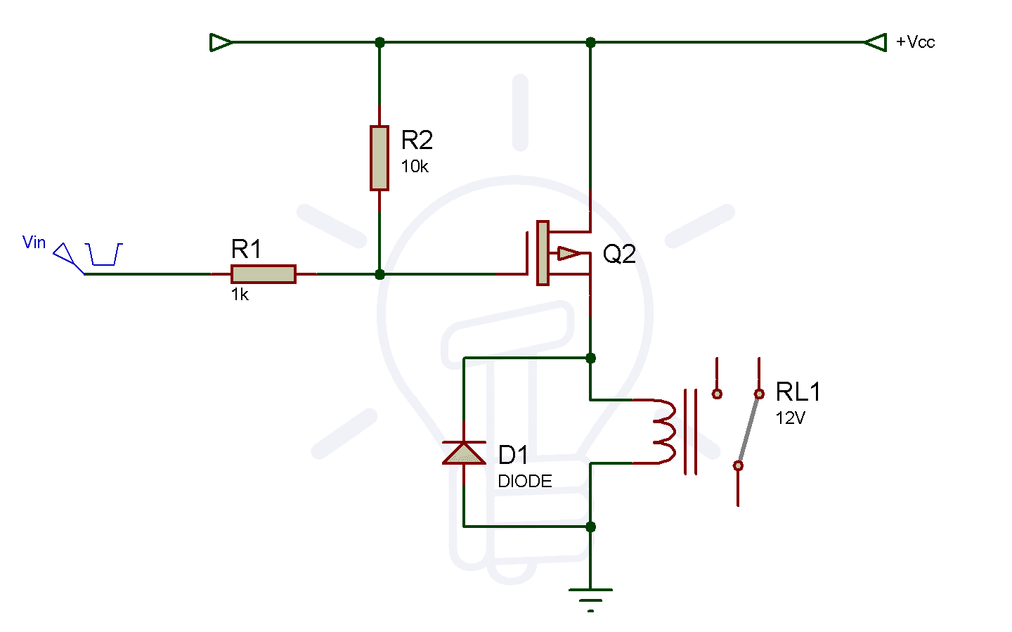 P-Channel Relay Switch Circuit