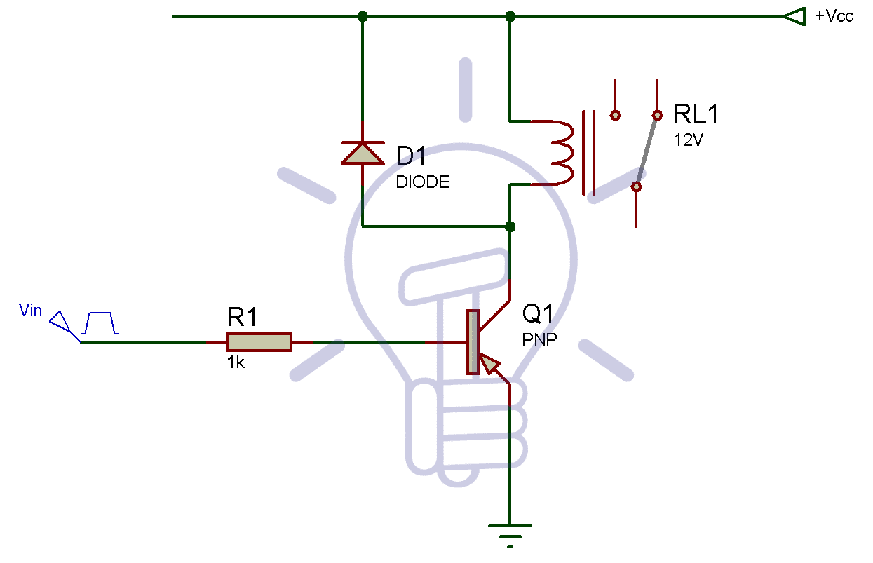 PNP Relay Switch Circuit: