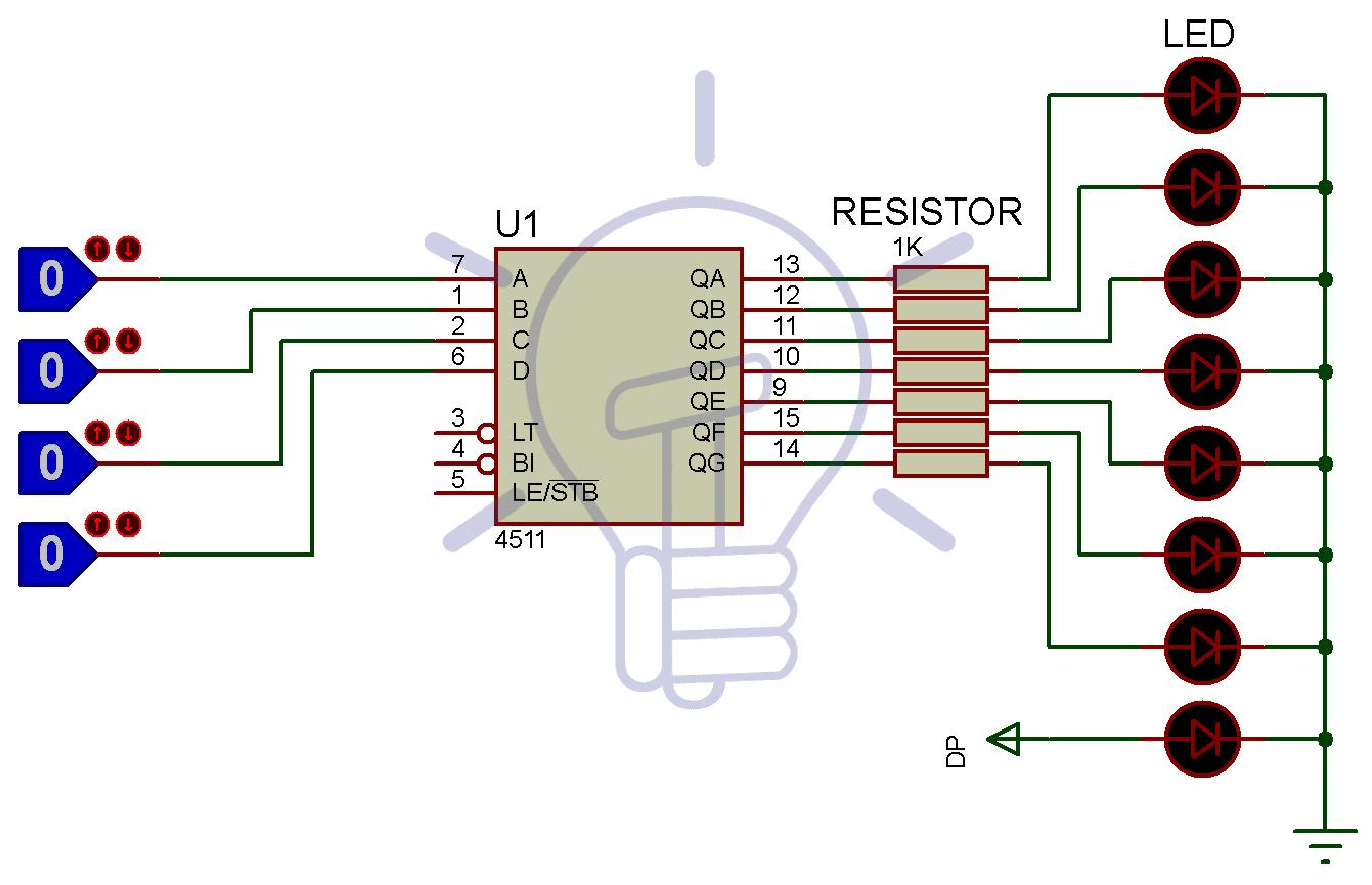 Seven segment with CD4511