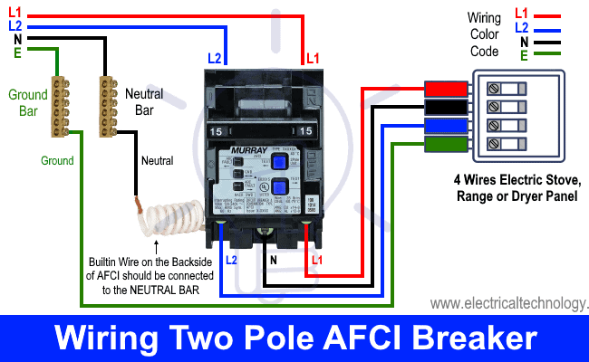 How to Wire a two Pole AFCI Breaker