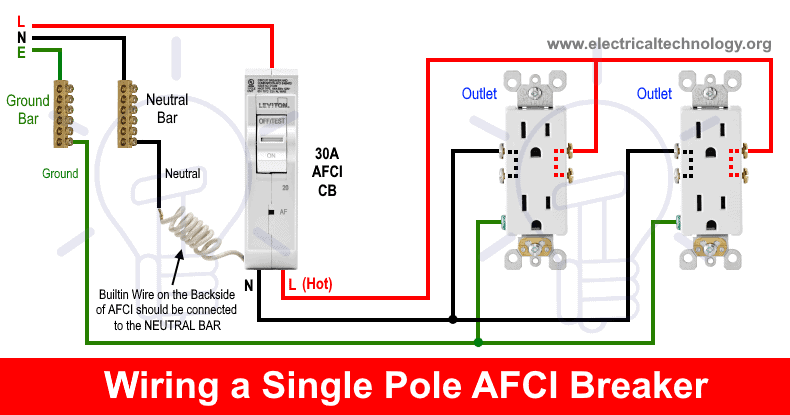 [FPWZ_2684]  How to Wire an AFCI Breaker? Arc Fault Circuit Interrupter Wiring | Arc Fault Wiring Diagram |  | Electrical Technology