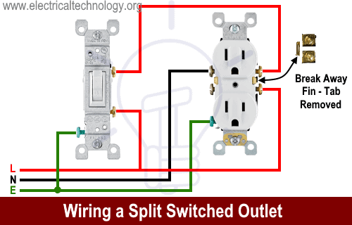 Wiring a Split Switched Outlet