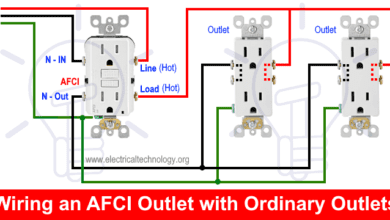 Wiring an AFCI Outlet with Ordinary Outlets