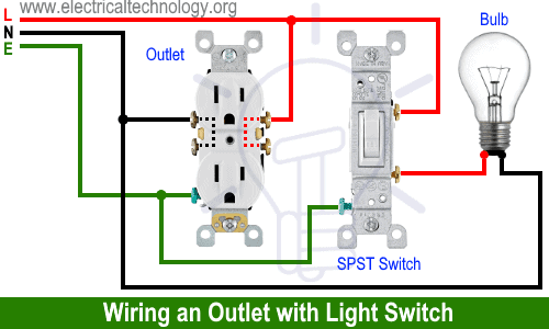 Wiring an Outlet with Light Switch