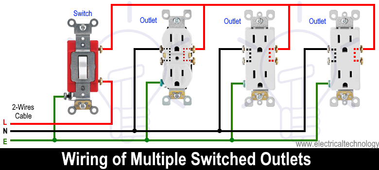 Wiring of Multiple Switched Outlets