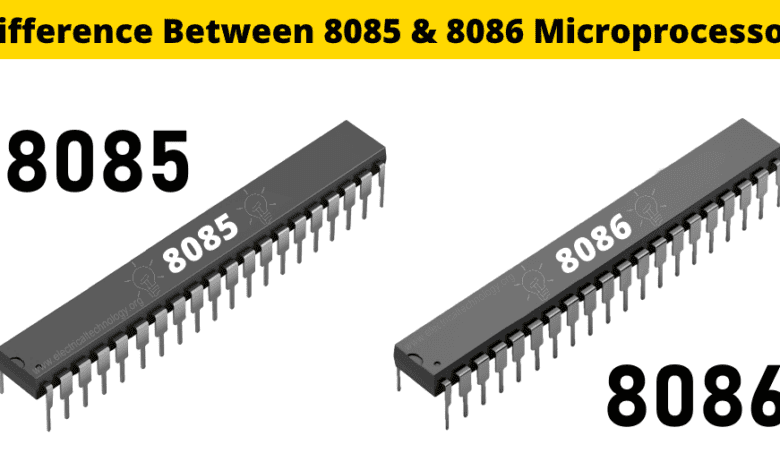 Photo of Difference Between 8085 & 8086 Microprocessor – Comparison