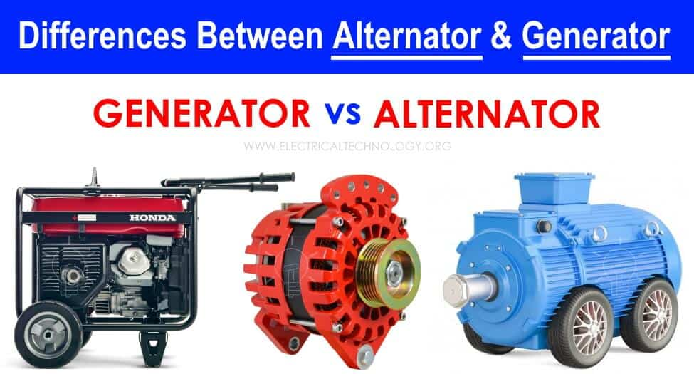 Difference between Alternator and Generator