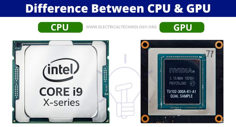 Difference between CPU & GPU