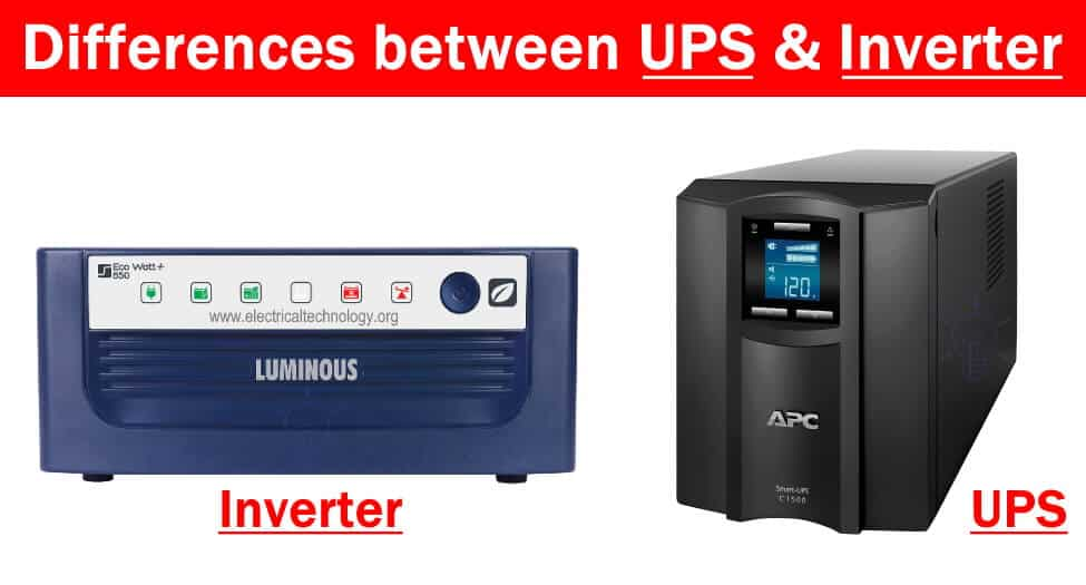 Differences between Inverter & UPS - Uninterruptible Power Supply