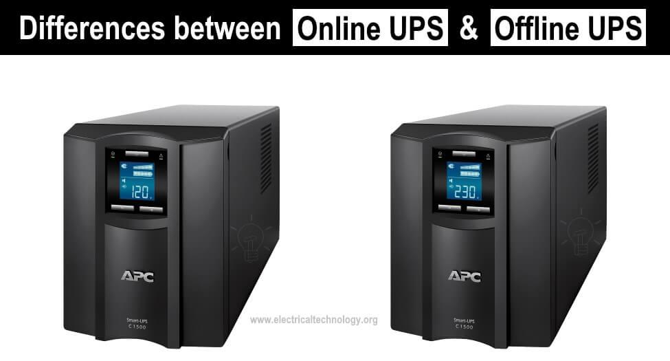 Differences between Online UPS & Offline UPS