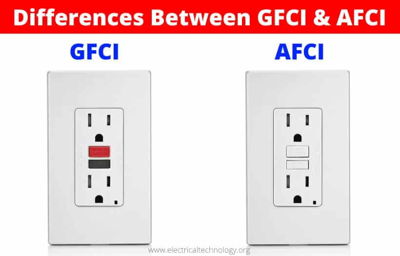 Differences Between GFCI & AFCI