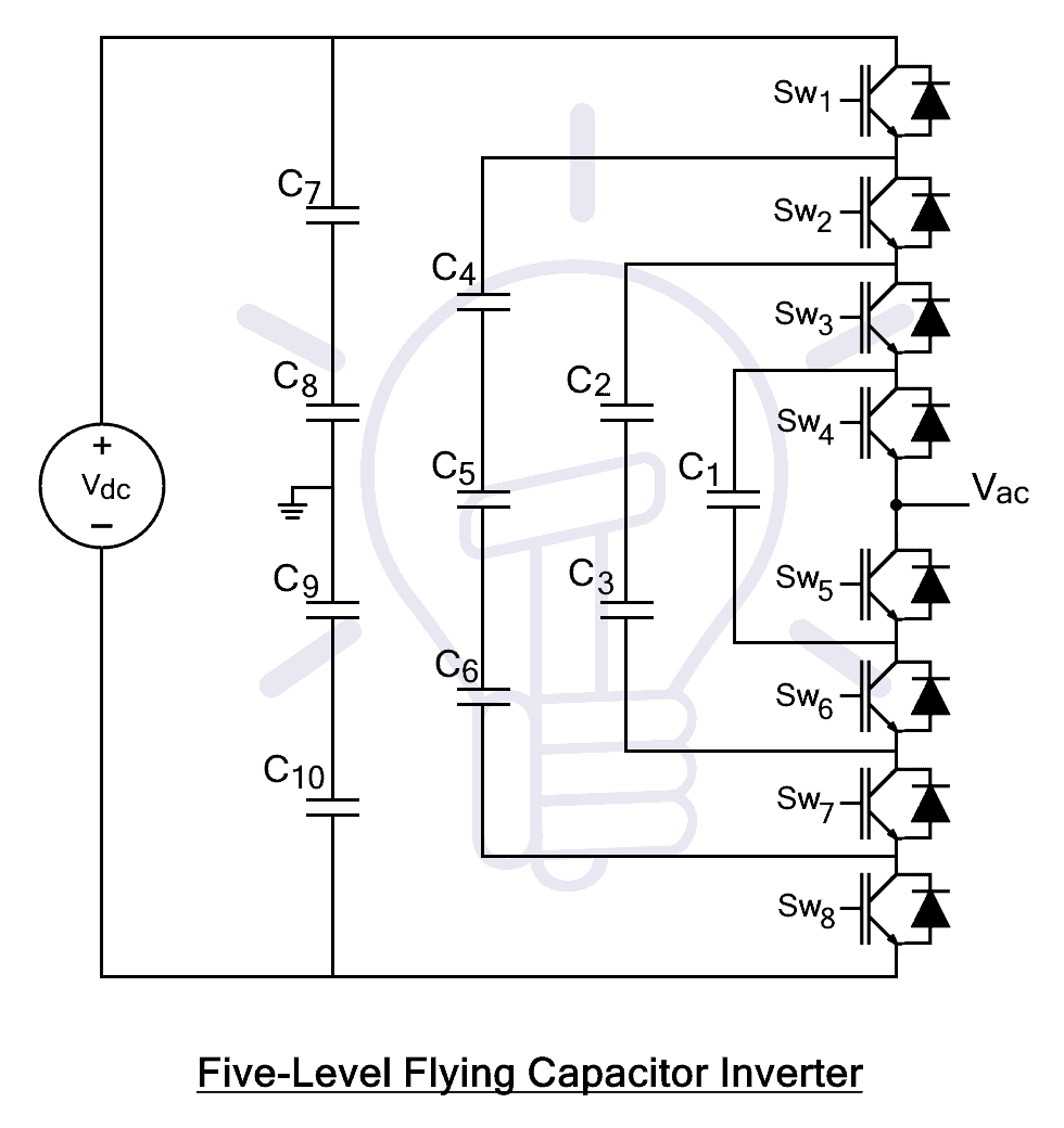 Five Level Flying Capacitor Inverter
