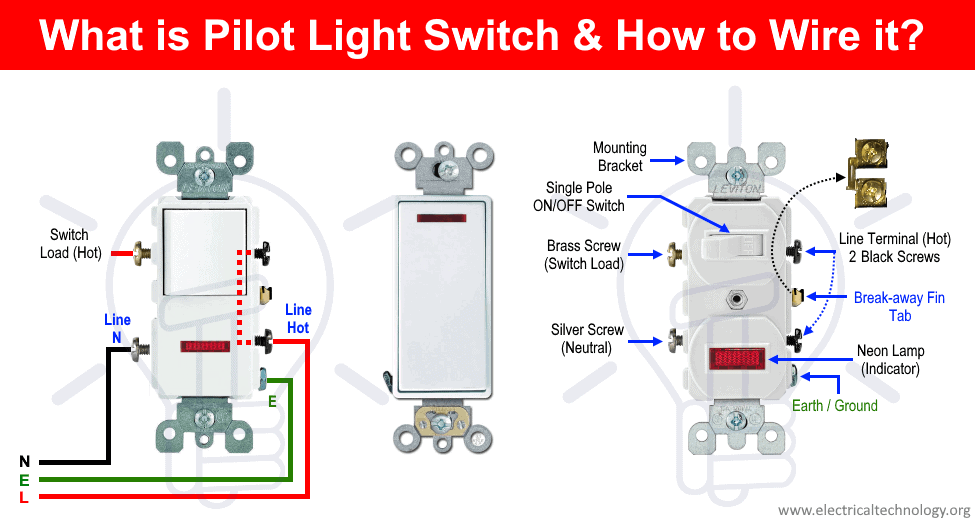 [SCHEMATICS_4FD]  How to Wire a Pilot Light Switch? 2 and 3 Way Wiring | Switched Light Wiring Diagram |  | Electrical Technology
