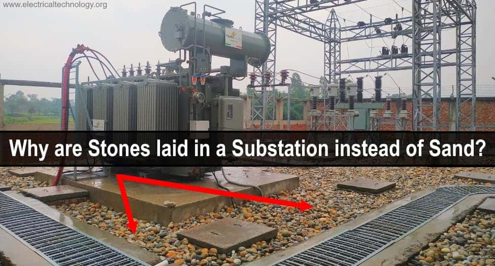Why are Stones laid in an Electrical Substation Instead of Stones and Grass