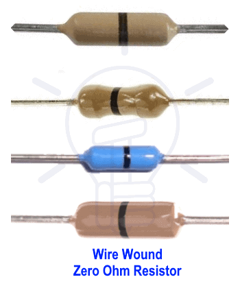 Wire Wound Zero Ohm Resistor