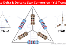 Photo of Star to Delta & Delta to Star Conversion. Y-Δ Transformation