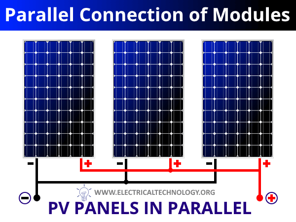 Parallel Connection of Solar Panels