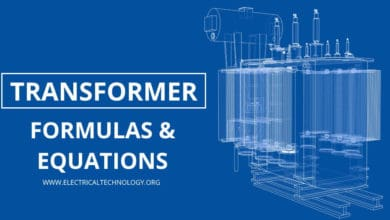 Electrical Transformer Formulas and Equations