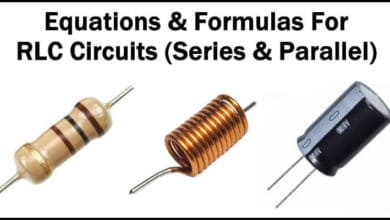Equations & Formulas For RLC Circuits (Series & Parallel)