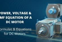 Power, Voltage and EMF Equation of a DC Motor -Formulas and Equations for DC Motors