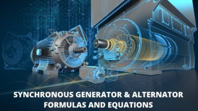 Synchronous Generator and Alternator Formulas & Equations