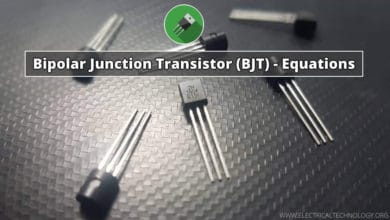 Bipolar Junction Transistor (BJT) - Formulas and Equations