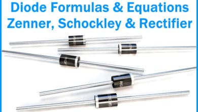 Diode Formulas & Equations - Zenner, Schockley & Rectifier