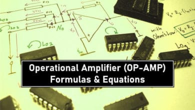 Operational Amplifier (OP-AMP) - Formulas and Equations