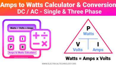 Amps to Watts Calculator and Conversion