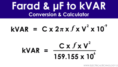 μ-Farad to kVAR Calculator – How to Convert Farads to kVAR