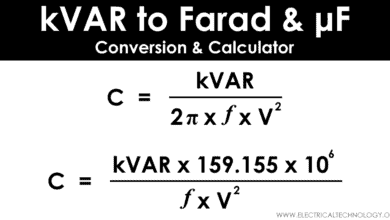 kVAR to Farad Calculator - How to Convert kVAR to Farads
