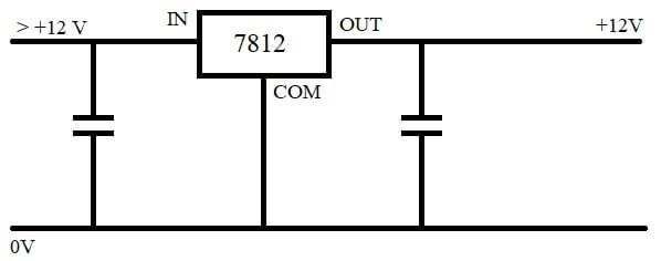 7812 IC Pinout