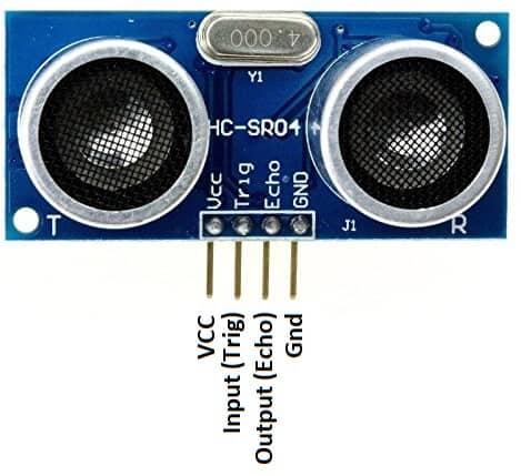 Pinout of HC-SR04 Ultrasonic Sensor