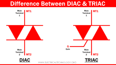 Difference Between DIAC and TRIAC