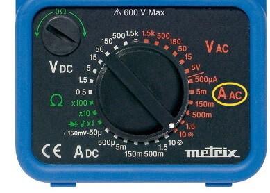 Analog Multimeter AC Current Measurement Mode Selection