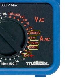 Analog Multimeter AC Current Measurement Range Selection