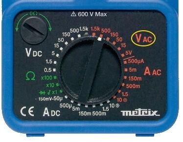 Analog Multimeter AC Voltage Measurement Mode Selection