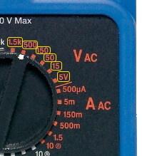 Analog Multimeter AC Voltage Measurement Range Selection