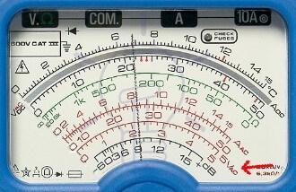 Analog Multimeter AC Voltage Measurement Scale Reading