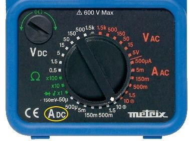 Analog Multimeter DC Current Measurement Mode Selection