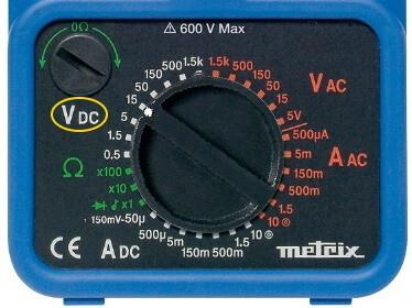 Analog Multimeter DC Voltage Measurement Mode Selection