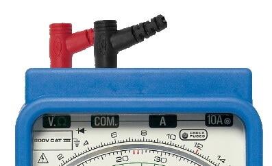 Analog Multimeter Resistance Measurement Sockets