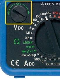 Analog Multimeter Resistance Measurement Zero Adjustment