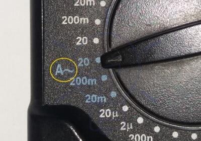 DMM AC Current Measurement Mode Selection