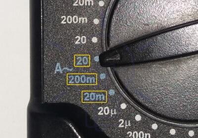 DMM AC Current Measurement Range Selection