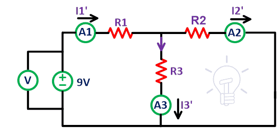 Solving and analyzing electric circuit using Superposition Theorem